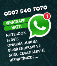 İzmir notebook servisi telefon